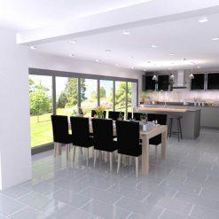 Nolte Integra Grey Soft Matt Handleless Kitchen & Utility Room