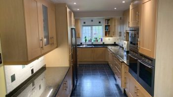 Bespoke Large Immaculate Wood Doors Kitchen & Appliances