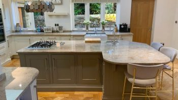 Handmade Bespoke Inframe Shaker Wood Pilaster Kitchen