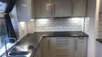 Modern Ikea Ringhult Light Grey Gloss Kitchen All Appliances Worktops Used Kitchen Hub