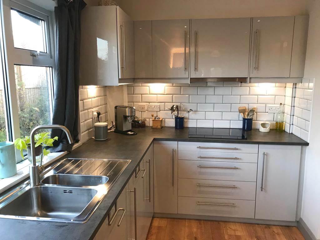 Modern Ikea Ringhult Light Grey Gloss Kitchen All Appliances ...