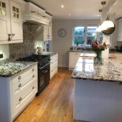 InFrame Shaker Hand painted F&B Eggshell Kitchen & Island