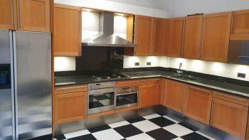 Leicht Wood Kitchen with Black Granite & appliances