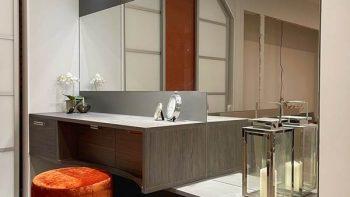 Ex Display Hacker Dark Pine & Lava Grey Dressing Table