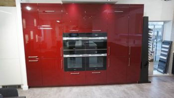 Ex Display Hacker Systemat High End Red Gloss Tall Unit Run