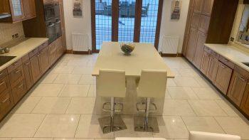 Rotpunkt Tempo Walnut & White Gloss Modern Kitchen & Island