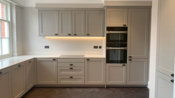 Unused Siematic Soft Grey Shaker Kitchen New Unused Miele & Quooker Appliances