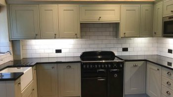 Modern Grey Matt Shaker Kitchen Rangemaster Appliances