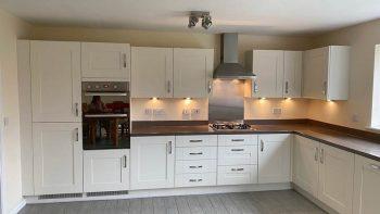 Symphony Ivory White Modern Shaker Kitchen & Utility Room