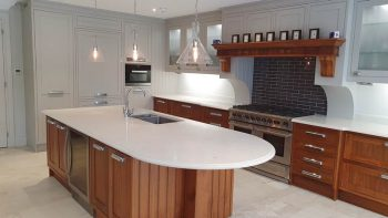 Wooden Heart Of Weybridge Inframe Shaker Beech & Walnut Kitchen
