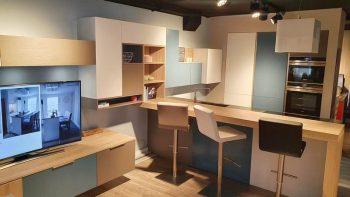 Ex Display Mobalpa Storm Blue, White, Grey Kitchen & Appliances