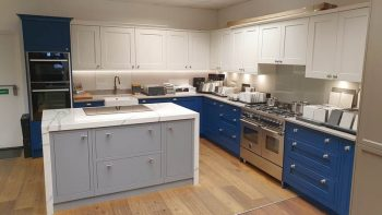 Ex Display PWS 1909 Inframe Shaker & Slab Blue, Grey Kitchen