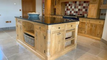 Bespoke Solid Oak Door Pilaster Dovetail Joint Country Kitchen