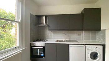 Howdens Matt Dark Grey with Quartz Worktops & Appliances