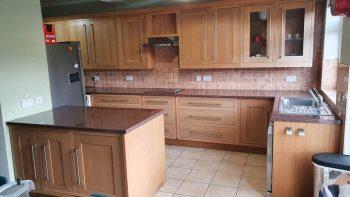 Lovely Wooden Doors Tan Inframe Shaker Kitchen