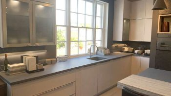 Ex Display Hacker Systemat 2056 Satinised Taupe Kitchen & Island