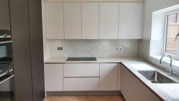 Modern Unused Dark & Light Grey Handless Kitchen