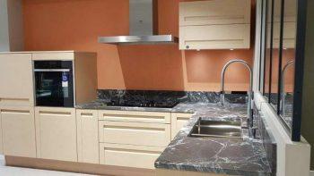 Ex Display Mobalpa Bleached Oak Wood Doors Kitchen