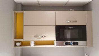 Mobalpa Kiffe Grege Matt Laminate with Dekton 20mm Aura Worktops & Appliances