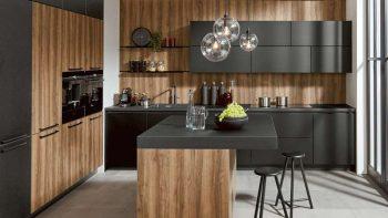 New Boxed Pronorm Proline MP Ultra Matt Walnut & Stratuss Grey Pearl Carcass Soft Close Kitchen Units.