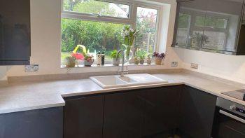 Magnet Dark Grey L-shaped Kitchen with Appliances