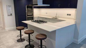 Masterclass Shelford Inkwell Blue & Scotts Light Grey Shaker Kitchen