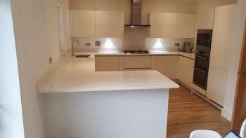 Modern Matt Handleless Off White Second Hand Kitchen & Utility Room