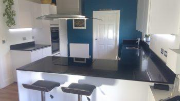 Nobilia White Gloss Handleless Modern Kitchen Appliances Silestone Workto