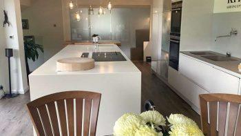 Pronorm Gloss Two Tone Light Grey Gloss & Stone Grey Kitchen & Island