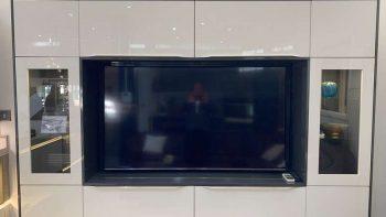 Ex Display Hacker AV2030 TV Floating Wall Display White High Gloss & Carbon Metallic