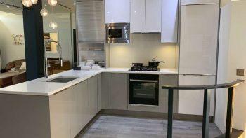 Ex Display Hacker Grey & White Kitchen