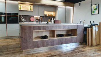 Ex Display Mereway Futura Oxidized Amber with Natural Oak Island