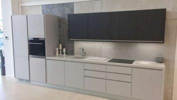 Ex Display Porcelanosa Cemento Grey Matt & Roble Negro Textured Laminate Wood effect Kitchen